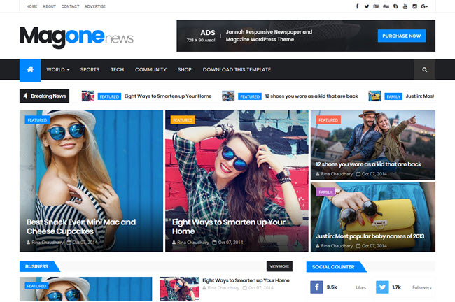 MagOne Blogger Template Premium Free Download
