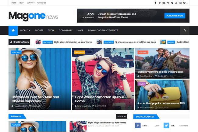 MagOne - Responsive Magazine Blogger Template