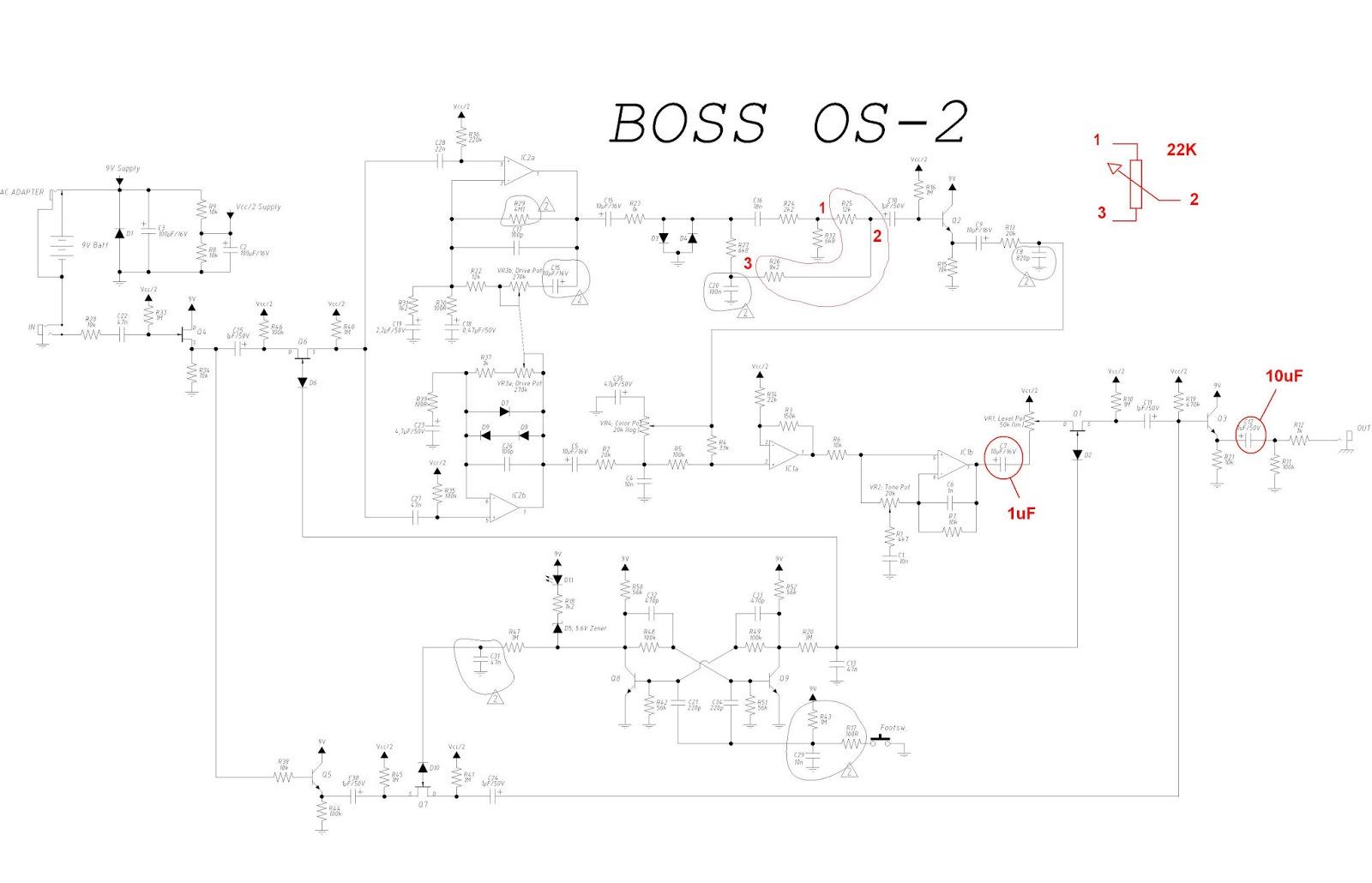 Guitar4geek Overdriver Distortion Boss Os 2 Or