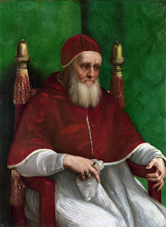 Raphael's portrait of Pope Julius II, which is housed in the National Gallery in London