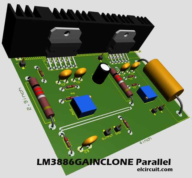Electronic Circuit Diagram Audio Amplifier An7124 3w