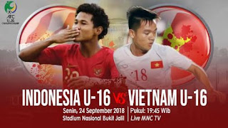 Jadwal Siaran Langsung Timnas Indonesia U-16  vs Vietnam
