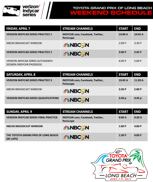 IndyCar TV Schedule