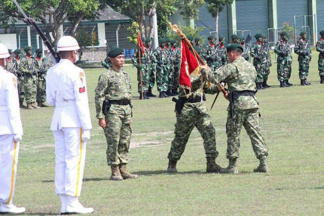 Tongkat Komando Danyonif Mekanis Raider 413 Kostrad Diserahterimakan di Mojolaban
