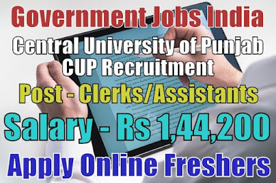 Central University of Punjab CUP Recruitment 2018