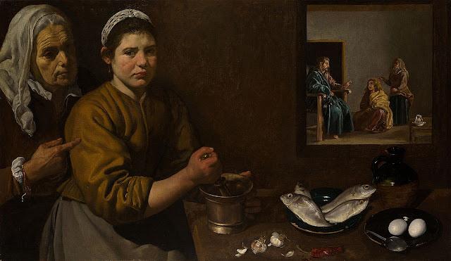 D. Velázquez, Cristo en casa de Marta y María (1618)