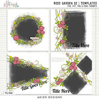 Template : Rose Garden 02 by Akizo Designs