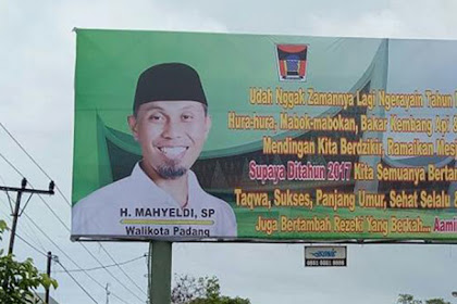 Wow Beredar Foto, Wali Kota Padang Pasang Baligho Ajakan Untuk Tidak Merayakan Tahun Baru!