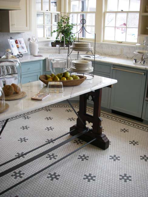 Row House Refuge: Timeless Patterned Tile Floors