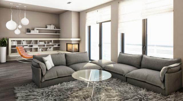 Dise os de salas con paredes grises salas con estilo for Grigio e beige arredamento