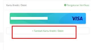 Menambahkan Kartu Kredit di Tokopedia