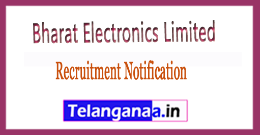 Bharat Electronics Limited BEL Recruitment Notification