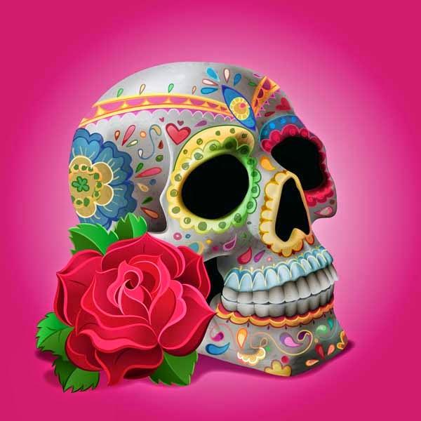 "Create ""Dia De Los Muertos"" Decorations on a Skull in Adobe Illustrator"