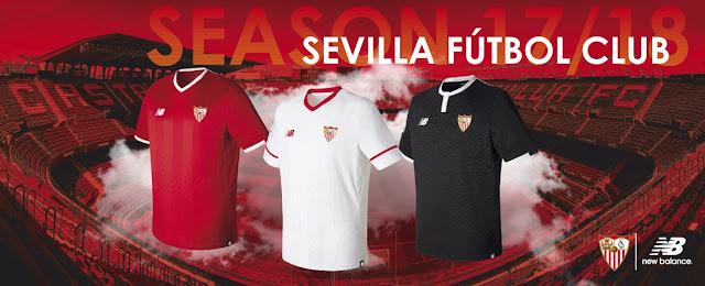 Camisetas Sevilla FC New Balance 2017-2018