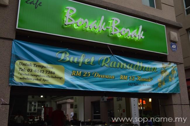 Berbuka puasa di Borak-Borak Cafe bersama EduRiders@KL