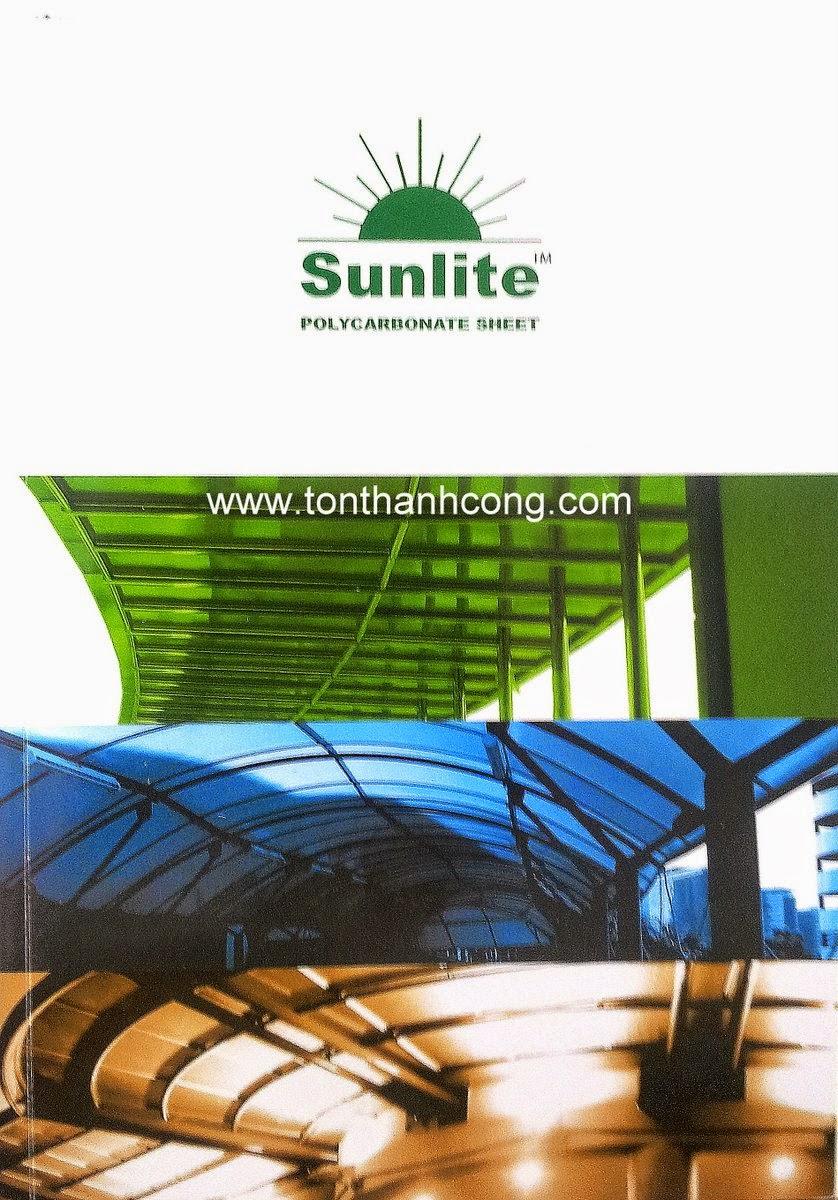 Logo & tên thương hiệu tấm lấy sáng Polycarbonate rỗng ruột SUNLITE Malaysia