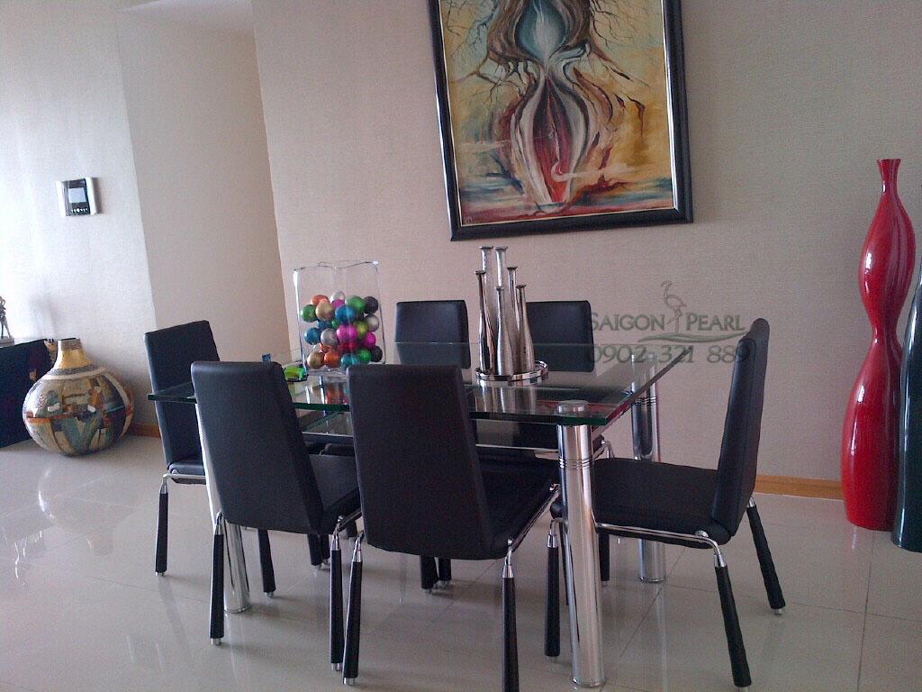 {Ruby 2 Saigon Pearl} cho thuê căn hộ 3PN tầng cao nội thất đẹp - hình 4