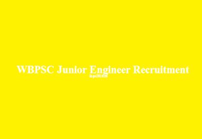 WBPSC Junior Engineer Recruitment 2016