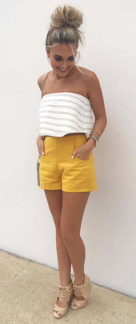 pretty cool outfit: top + shorts