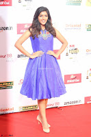 Eesha in Cute Blue Sleevelss Short Frock at Mirchi Music Awards South 2017 ~  Exclusive Celebrities Galleries 020.JPG