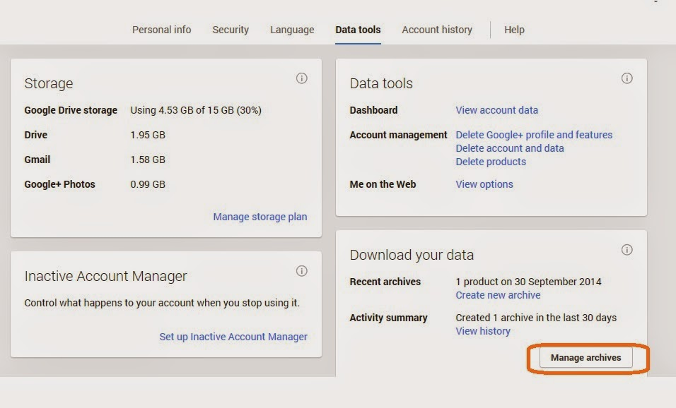 IT Support: Download Orkut Data to Local Computer/Google Drive