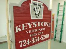 placa veterinária