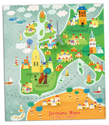 Mapa Jeronimo Mimo - Maria Albarran Illustration