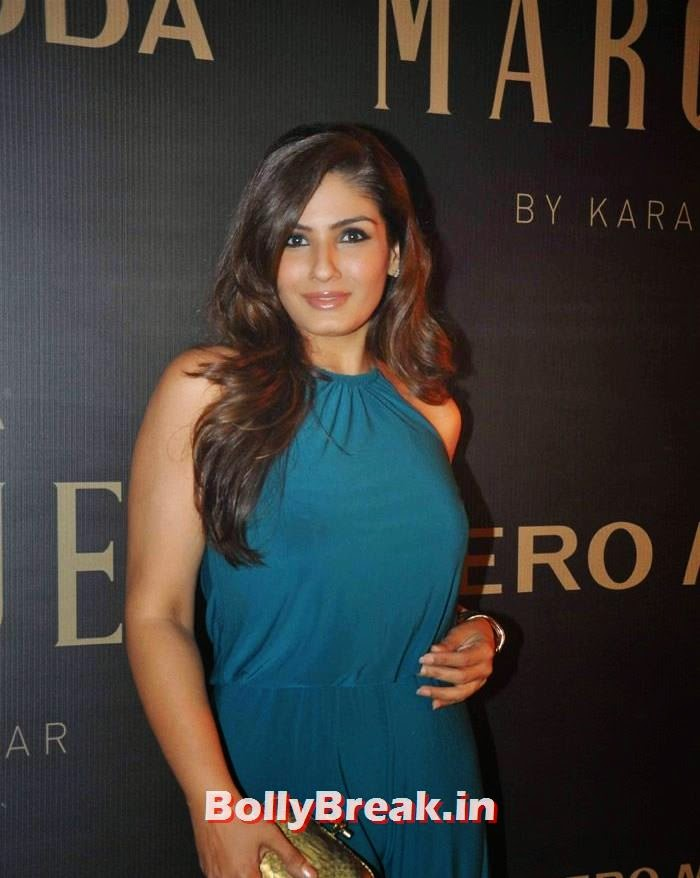 , Raveena Tandon in Green Dress without Sleeves - Latest hot pics