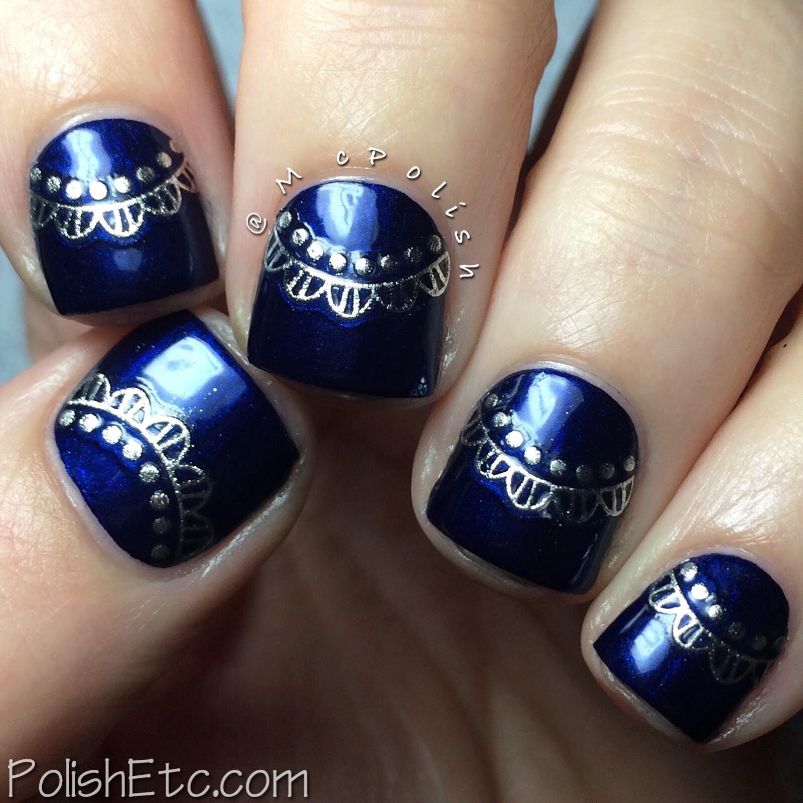 Born Pretty Store - Silver 3D Nail Stickers - Polish Etc.