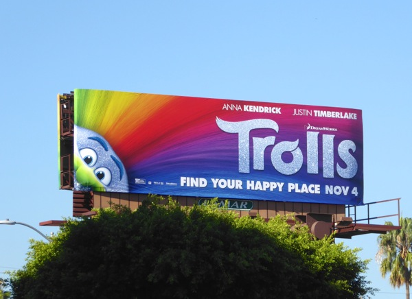 Trolls movie billboard