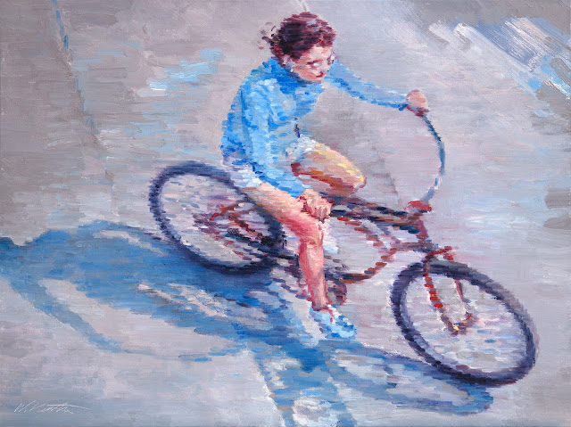 http://www.ugallery.com/oil-painting-impressions-of-a-woman-riding-a-bicycle-in-southern-california