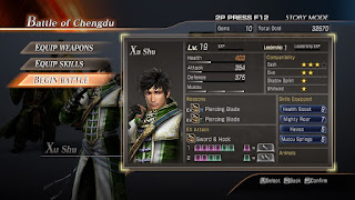Screenshot game menu Dynasty Warriors 8