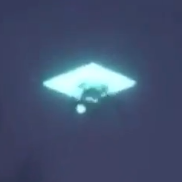 Alien UFO going through a portal over Denver air space.
