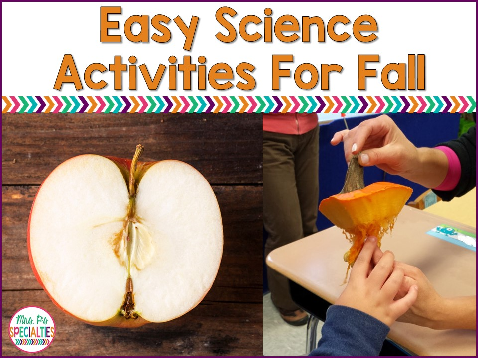 Fall lends itself to some great EASY science lessons for students who need hands on lessons. Here are a few engaging science lessons that my students have greatly enjoyed.