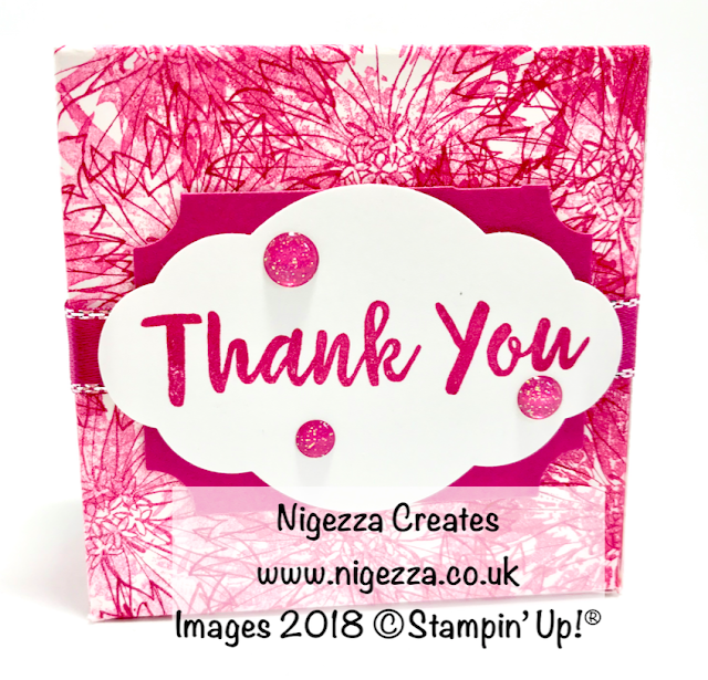 Stampin' Up!® Hand Stamped DSP Gift Box Using Touches Of Textures Nigezza Creates