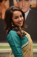 Tejaswi Madivada looks super cute in Saree at V care fund raising event COLORS ~  Exclusive 063.JPG