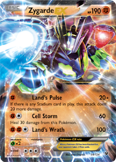 Zygarde EX Fates Collide Pokemon Card