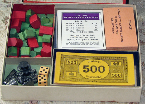 Monopoly 1935 box content