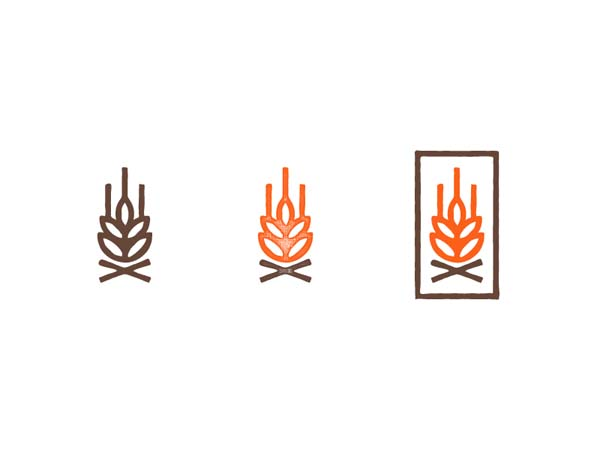 Inspirasi Desain Logo Monoline 2017 - Fire and Flour Monoline Logo