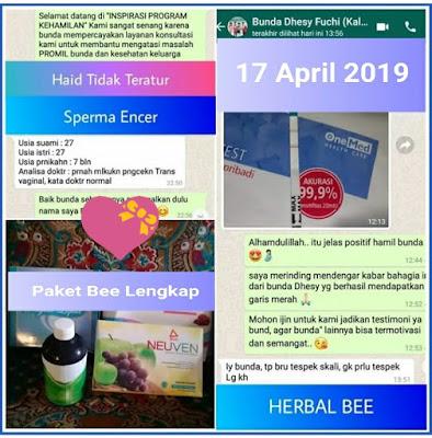 Testimoni Herbal Bee Dari Bunda Dhesy Fuchi Kaltim