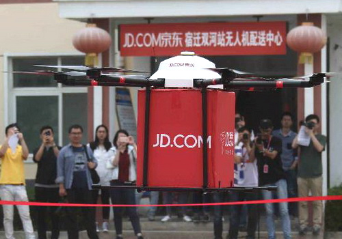 Tinuku JD.com developing drones for shipments up to one ton