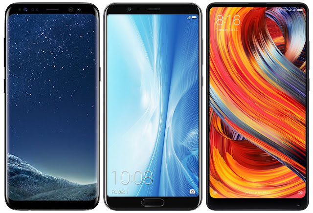 Samsung Galaxy S8 vs Honor View 10 vs Xiaomi Mi MIX 2