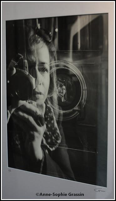 photo de l'exposition 2016 montrant anne sophie Grassin en reflet