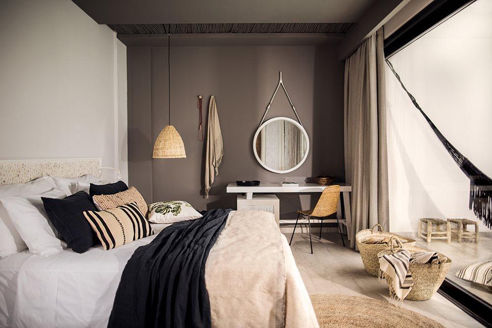 esprit boh me pour un h tel rhodes. Black Bedroom Furniture Sets. Home Design Ideas