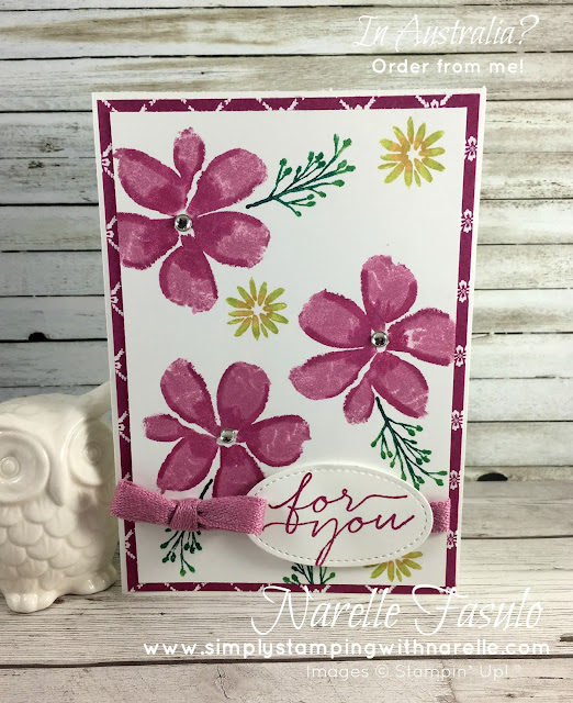 How to add shading to your stamped blooms - Simply Stamping with Narelle - get all your crafting supplies here - https://www3.stampinup.com/ecweb/default.aspx?dbwsdemoid=4008228