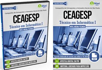 apostila Companhia de Entrepostos e Arm Gerais de SP pdf Técnico em Informática