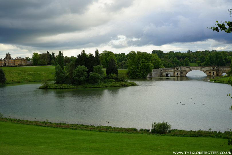 Blenheim palace and the bridge on the grounds