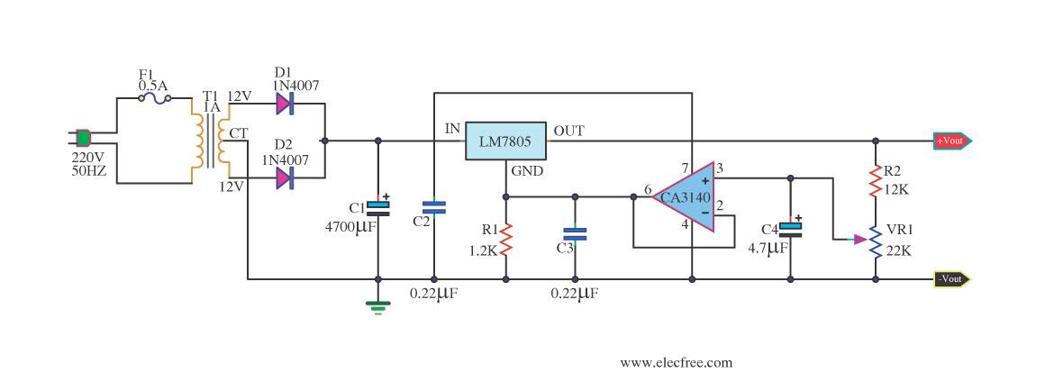 Regulator Circuit Diagram Electronic Circuit Diagrams Schematics