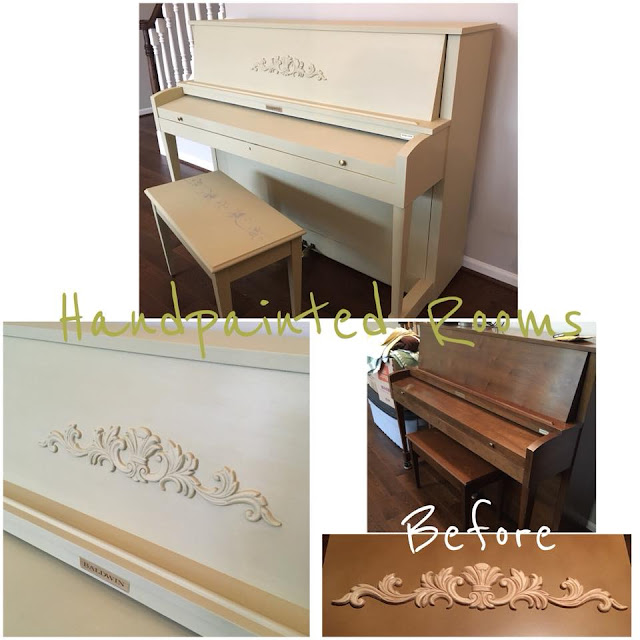 piano makeover with appliques