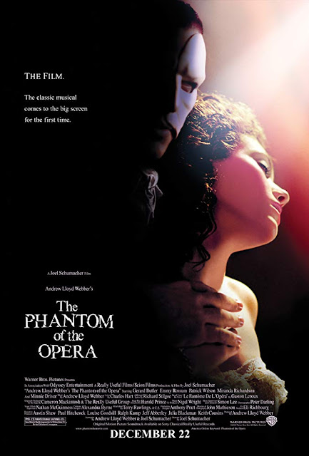 The Phantom of the Opers 2004 musical movie poster